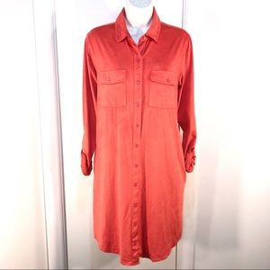 Classy Button Down Tunic Dress by C Label, Size L
